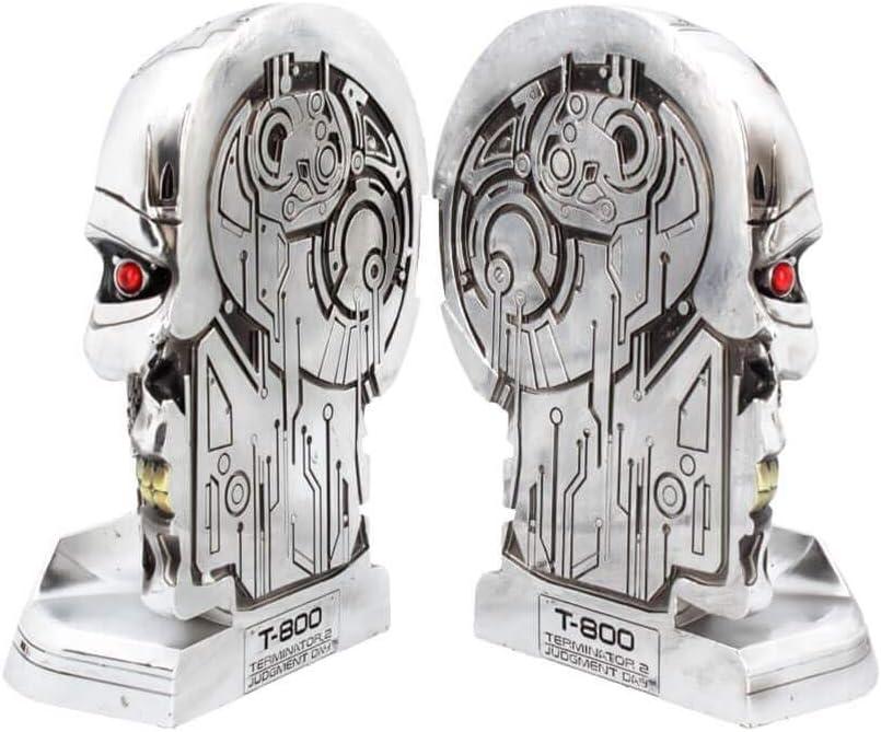 Nemesis Now Bookends 18.5cm Figurine Terminator 2 Buchst/ützen 18,5 cm Silber Kunstharz