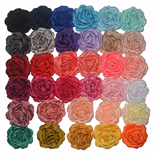 DDazzling Rose Hair Clip Satin Flower Fabric Flower Wedding Party Favors