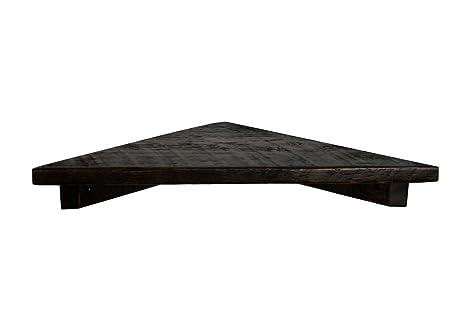 Amazon 40 Mocha Rustic Floating Wood Corner Shelf Pine Extraordinary Floating Corner Shelves With Lights