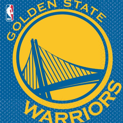 NBA Party Golden State Warriors Luncheon Napkins Tableware, 16 Pieces, Made from Paper, by Amscan