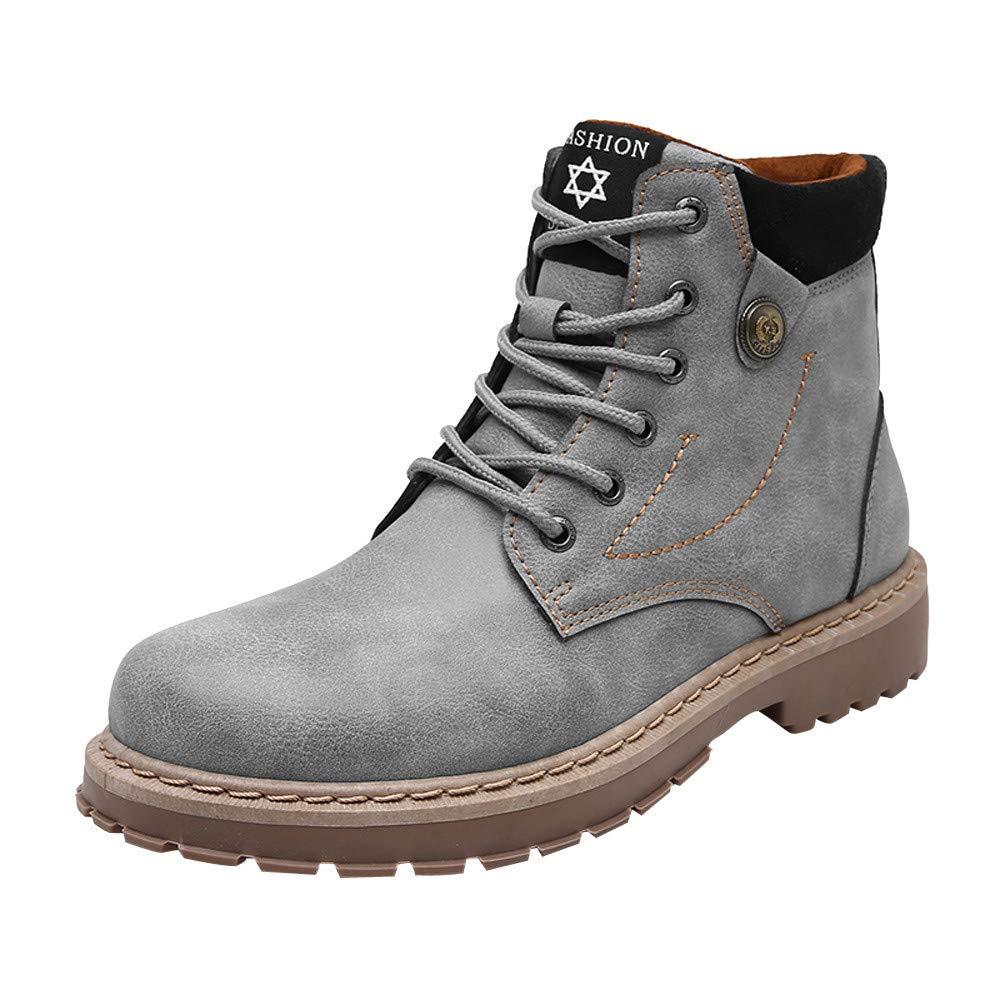 Toamen Los Hombres De Moda De Alta Top Botines Zapatos Martin Botas Zapatillas Zapatos: Amazon.es: Ropa y accesorios