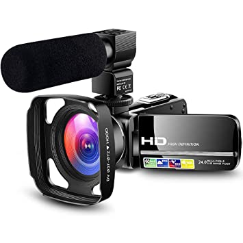 Amazon.com: Cámara de vídeo ultra HD 1080P Vlogging YouTube ...