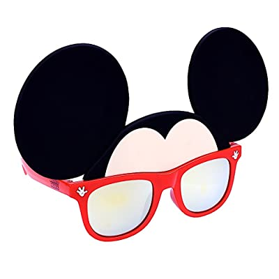 Costume Sunglasses Mickey Mouse Orange Lens Red Frame Sun-Staches Party Favors UV400: Toys & Games