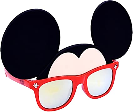 Mickey Mouse Kids Sunglasses with Kids Glasses Case Protective Toddler Sunglasses
