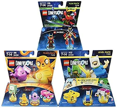 Warner Home Video -LEGO Dimensions Bundle: Adventure Time Team Pack, Ninjago Nya Fun Pack & Adventure Time Level Pack