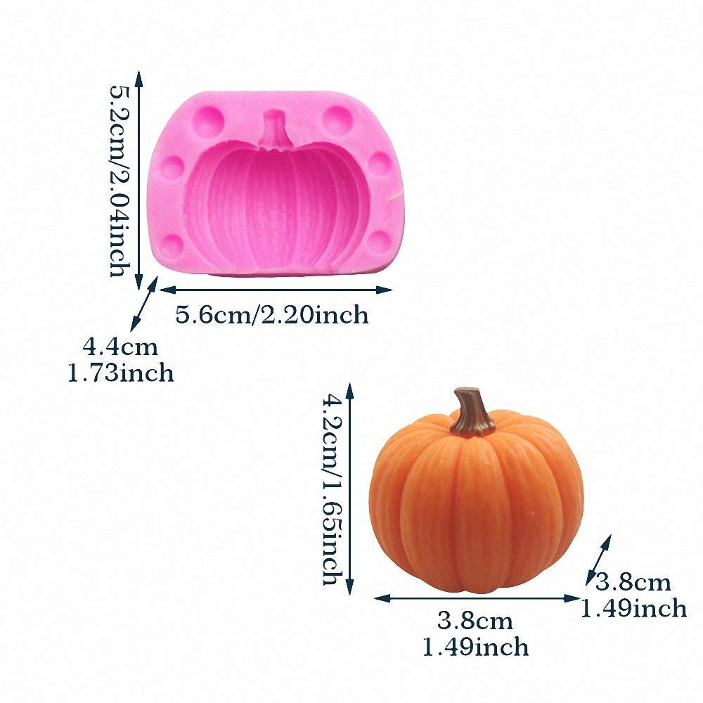 3D Pumpkin Silicone Mold - MoldFun Mini Pumpkin Mold for Candy, Baking, Cake Decoration, Soap Making, Chocolate, Candle, Clay