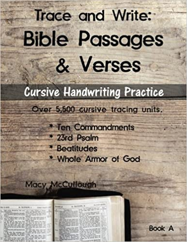 Amazon com: Trace and Write: Bible Passages and Verses (KJV