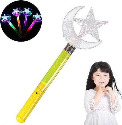 papillon Baguette magique fille enfants couronne /étoiles papillon lune sallument lumineux brillante Bling clignotant baguette princesse