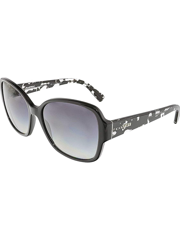 c7530306cb Amazon.com  Coach Womens Sunglasses (HC8166) Black Grey Acetate - Non- Polarized - 58mm  Coach  Clothing