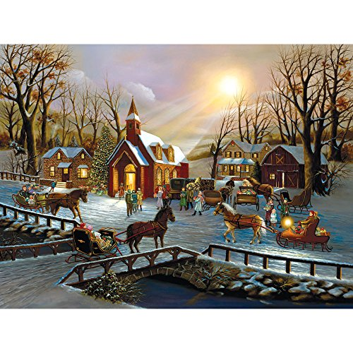 Bits and Pieces - 300 Piece Jigsaw Puzzle for Adults - A Christmas Wish - 300 pc Winter Holiday Jigsaw by Artist H. Hargrove