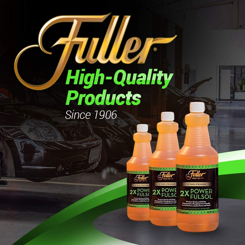 Fuller Brush 2X Power Fulsol Degreaser - Powerful Multi-Surface Degreaser Concentrate - All Purpose Oil, Grease & Grime Cleaner For Bike, Automotive, Grill, Bathroom & Kitchen by Fuller Brush