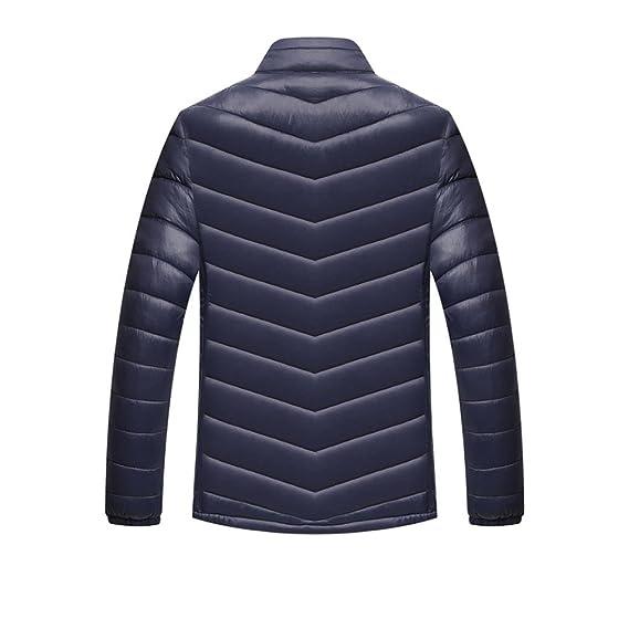 OverDose abrigos hombre invierno chaqueta delgada de soporte ligero M/L/XL/XXL/XXXL: Amazon.es: Ropa y accesorios