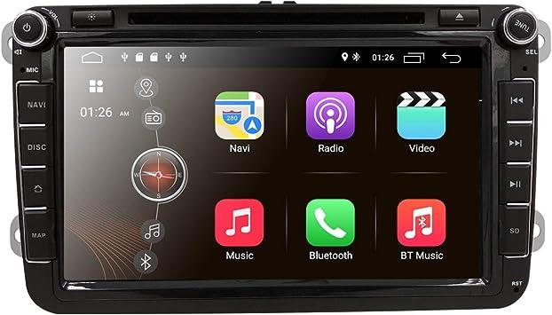 hizpo Android 9.0 Reproductor de vídeo estéreo de Coche para VW ...