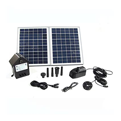 Amazon com : Sunnydaze Solar Water Pump Panel Kit Battery
