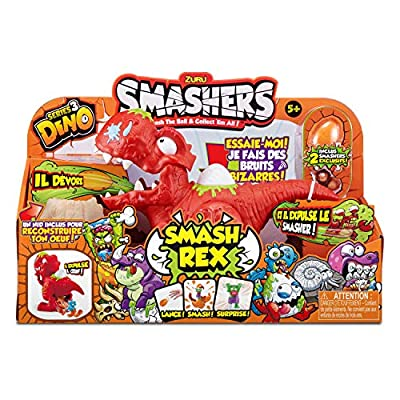 Smashers Series 3 Dino Smash Rex Playset with 2 Exclusive by ZURU: Toys & Games
