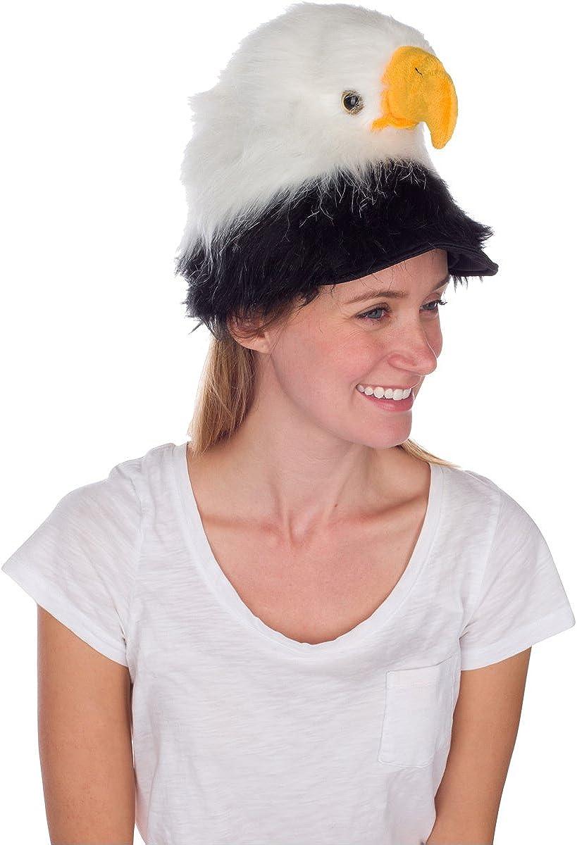 Águila calva disfraz de gorro, realista pájaro Animal de peluche ...