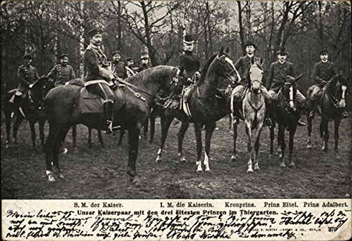 Kaiser Wilhelm II and Family Royalty Original Vintage Postcard from CardCow Vintage Postcards