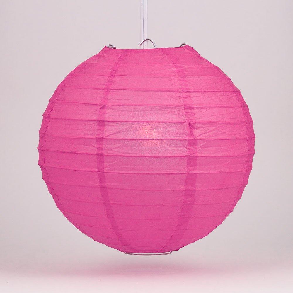 球体ペーパーランタン うね織り模様 ぶらさげるのに(電球は別売り) 12 Inch 12EVP-RP 1 B00T5DZNZK 12 Inch|Fuchsia / Hot Pink Fuchsia / Hot Pink 12 Inch