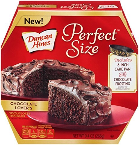 Duncan Hines, Perfect Size Mix, Chocolate Lovers Cake Mix, 9.4oz Box (Pack of 2) (Duncan Box)