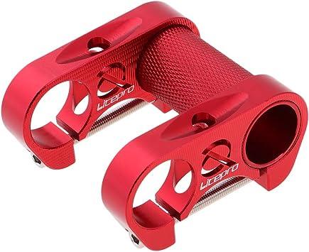 perfeclan Vástagos De Bicicleta Plegables Aleación De Aluminio Manillar De Bicicleta Ajustable Elevador De Vástago 25.4x90 Mm - Rojo: Amazon.es: Deportes y aire libre