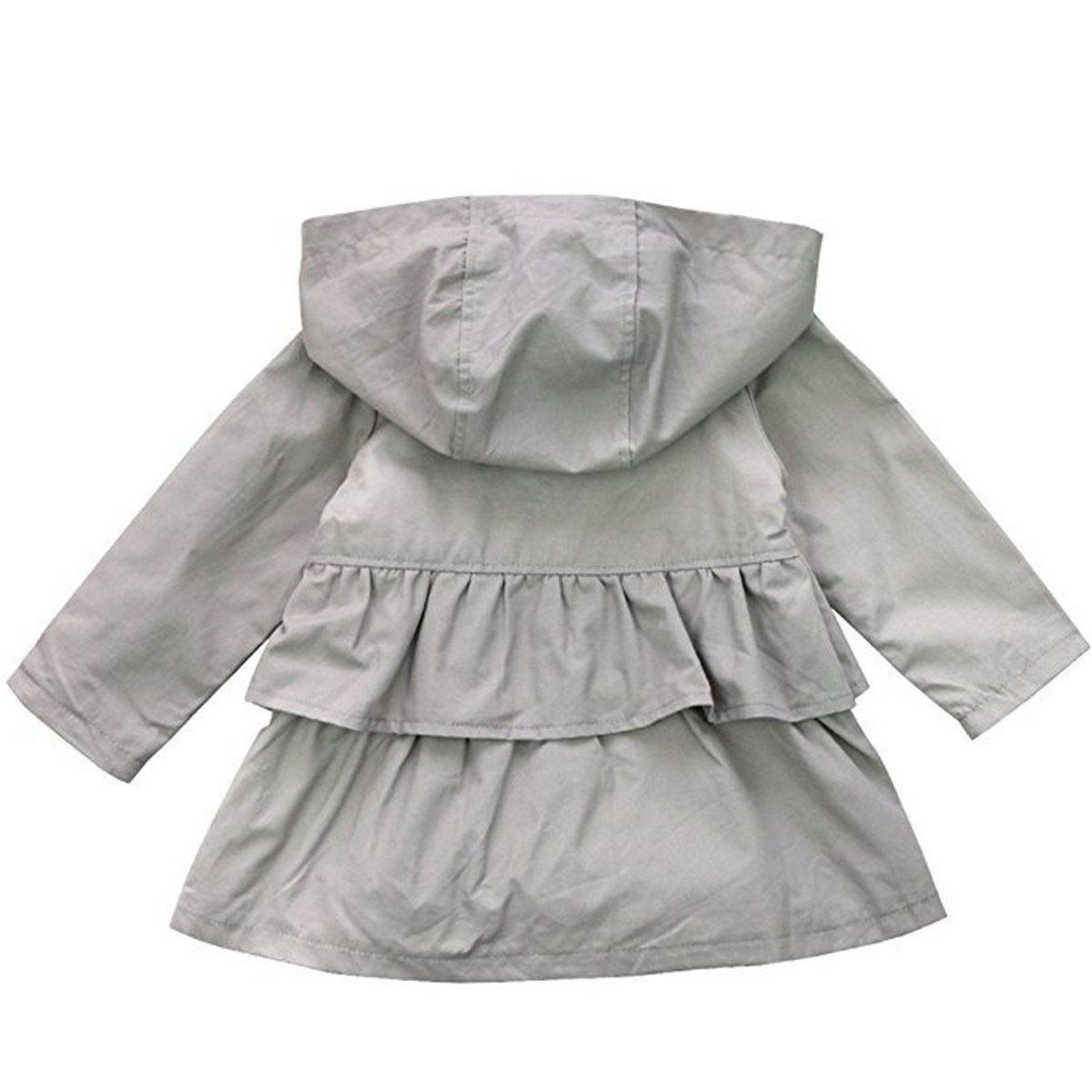 REWANGOING Baby Kid Little Girls Cute Spring Trench Wind Dust Coat Hooded Jacket Outerwear