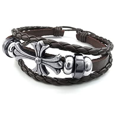 Amazon.com  KONOV Mens Womens Leather Bracelet 0c0828855c