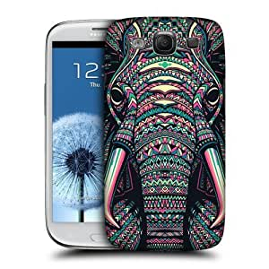 Head Case Designs Elephant Aztec Animal Faces Protective Snap-on Hard Back Case Cover for Samsung Galaxy S3 III I9300
