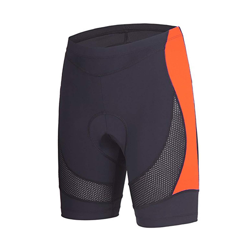 beroy Bike Shorts with 3D Gel Padded,Womens Gel Cycling Shorts(S,Orange) by beroy
