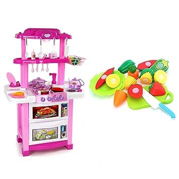 Amazon.com: Kitchen Toys Kitchen Playsets Plastic Kitchen ...