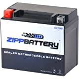 Zipp Battery YTX12-BS High Performance-Maintenance Free-Sealed AGM Motorcycle Battery