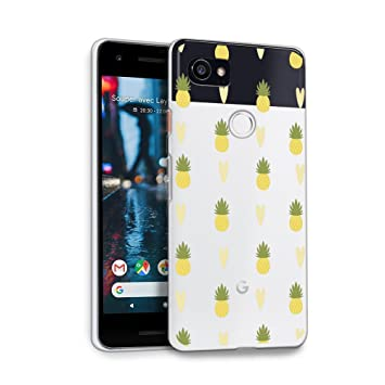 Hellogiftify Google Pixel 2 Xl Case Pineapple Pattern Tpu Soft Gel Protective Case For Google Pixel 2 Xl