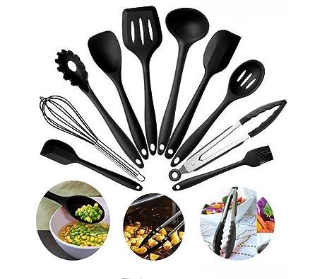 Myeast Silicone Kitchen Utensils,10 Sets Of Silicone Kitchen Utensils, Cooking Shovel Spoon (