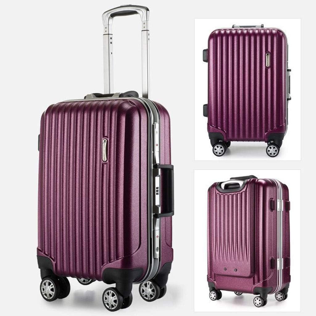 Caja de Manillar Suitcase Samsonite Spinner Suitcase, 55.5 Cm, (Violeta) Maletas de Viaje (Color : Purple, Size : 20 inches55.5x25x35cm)