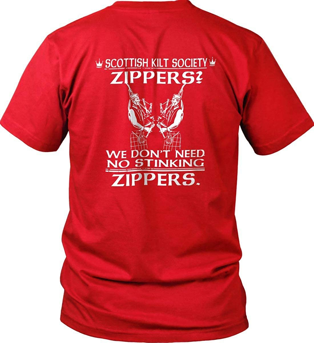 Celtic T-Shirt Made in USA T-Shi. Zippers We Dont Need to stinking Zippers