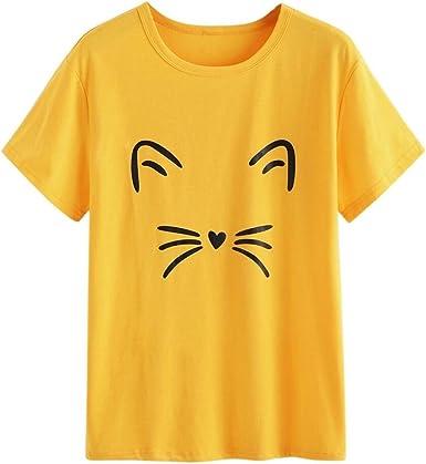 FAMILIZO Camisetas Mujer Manga Corta Camisetas Mujer Tallas Grandes Camisetas Mujer Verano Blusa Mujer Sport Tops Mujer Verano Casual Blusa