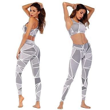 16063c44b6858 Janedream Fashion Yoga 2pcs 3D Printed Running Suits High Waist Leggins  Stylish Exercise Workout Leggings Women