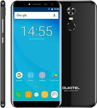 oukitel C8 entsperrtes Smartphone de 5,5 Pulgadas (13.96 cm) Pantalla, 16 GB Memoria Android 7.0 Quad Core 2 GB de RAM with 3 G Network Dual SIM Antihuellas Identification Teléfono Móvil: Amazon.es: Electrónica