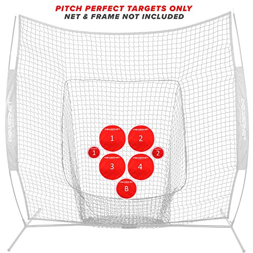 PowerNet Pitch Perfect Targets | Baseball Softball Pitching Trainer | Targets Only | 3 Size Target Set | Increase Pitching Throwing Accuracy Location | All Skill Level Training Aid | Strike Zone