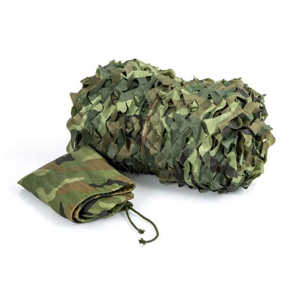 3×5m Ljdgr Filet Camo Visière Extérieure GR Filet de Camouflage décoré dans la Jungle en Plein air, Filet Militaire caché de différentes Tailles (Taille  2x3m) (Taille  2 & 7; 7m) Armée Camo Filet