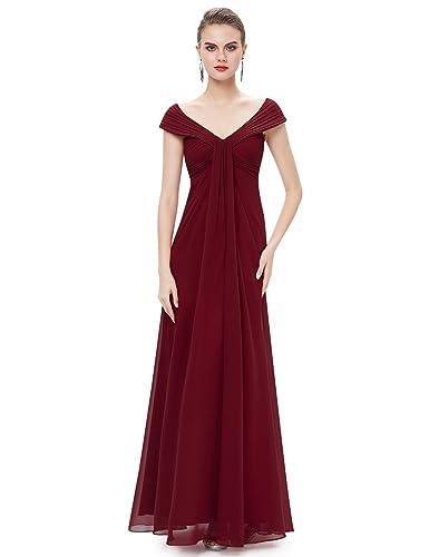 Ever Pretty Elegant Off Shoulder V-Neck Long Party Dress 08457
