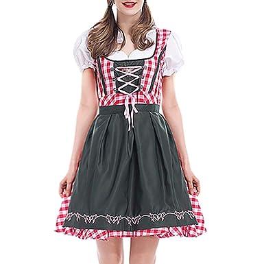 e56edc24d2 Amazon.com  CieKen Women s German Dirndl Dress Costumes for Bavarian ...