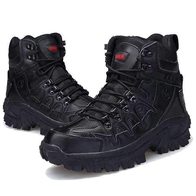 Hombres Botas Tácticas Militares Desert Army Camping Combat Botas De Montaña High Top Botas De Patrulla De Senderismo Al Aire Libre Zapatos: Amazon.es: Ropa ...