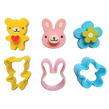 Yijia 3 Formas carácteres por segundo, diseño de mini moldes para sandwich Set para niños