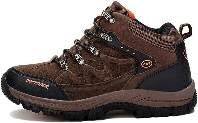 Zapatos De Trekking para Hombre De Gran Altura Zapatos De Trekking Zapatos para Hombres De Gran Tamaño A Prueba De Golpes Desgaste Antideslizante para Deportes Al Aire Libre: Amazon.es: Zapatos y complementos
