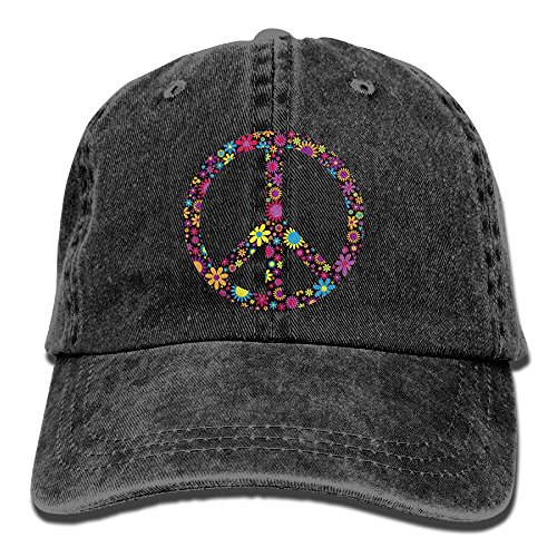 Floral Peace Sign Flower Unisex Cowboy Hat Custom For Man And - Sign Floral Peace