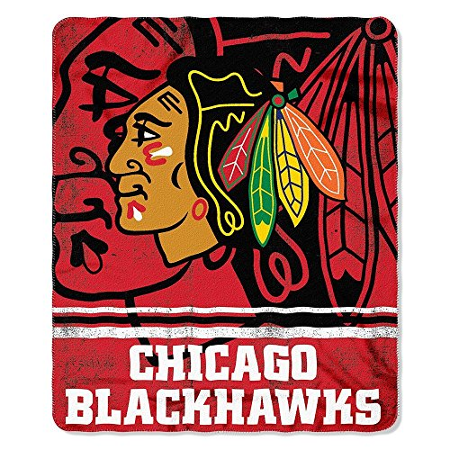 Nhl Chicago Blackhawks Fade Away Printed Fleece Throw  50 Inch By 60 Inch