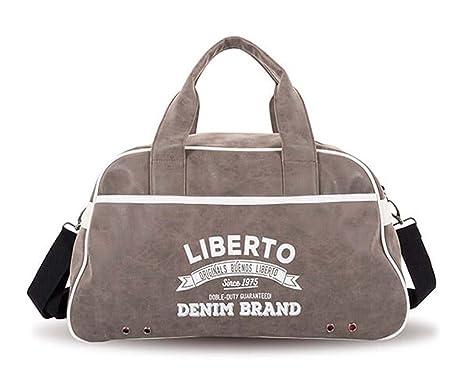 Bolsa Deporte hombre Liberto Denim marron - Marrón: Amazon ...