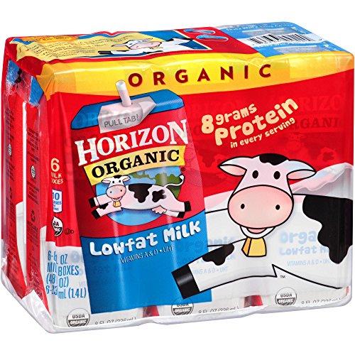Horizon Organic Lowfat Milk 8 fl. oz., 6 Count (Pack of