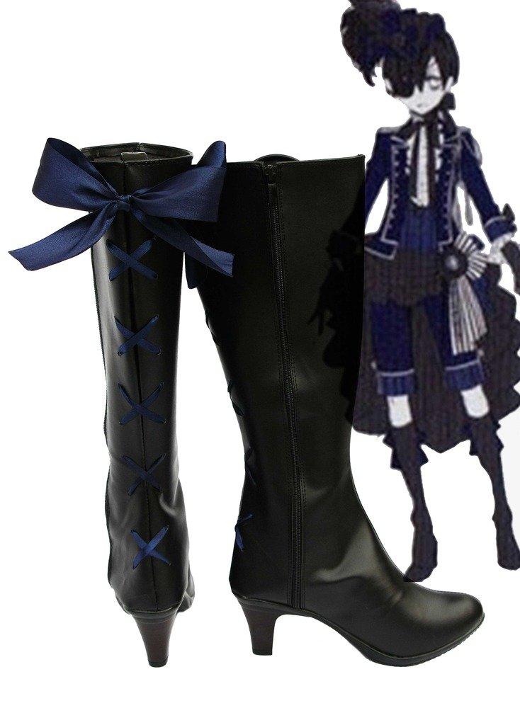 Black Butler Kuroshitsuji Ciel Knight Costume Cosplay Shoes Boots Custom Made 2 10.5 B(M) US Female