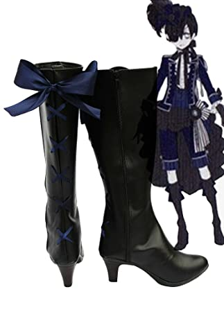 Black Butler Kuroshitsuji Ciel Knight Costume Cosplay Shoes Boots Custom Made 2